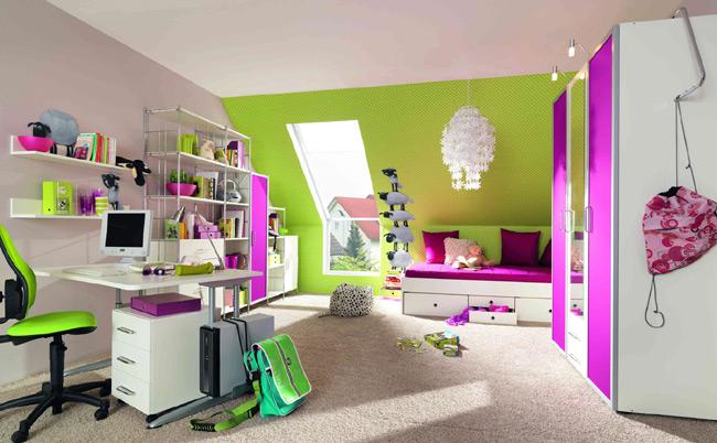 Dormitorios en verde blanco y morado dormitorios colores - Paredes habitacion juvenil ...