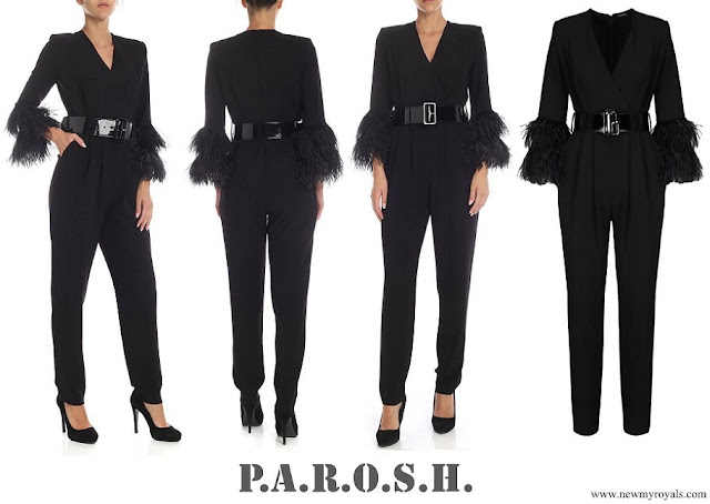 Duchess Maria Teresa P.A.R.O.S.H. Synthetic Belted Slim-fit Jumpsuit