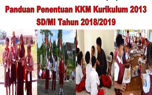 Panduan Penentuan KKM Kurikulum 2013 SD/MI Tahun 2018/2019
