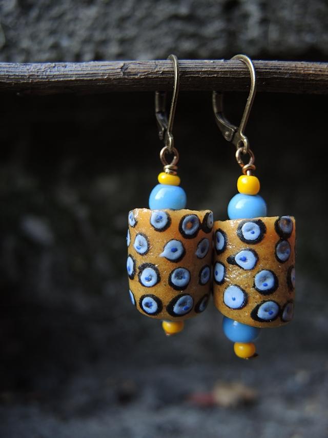 "DIY oorbellen/earrings ""Takodari"""