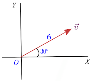 How to find vector components from magnitude and angle