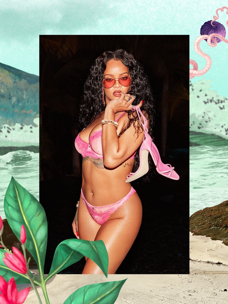 Rihanna stars in Savage x Fenty High Summer 2020 lingerie campaign.