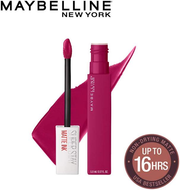 Maybelline New York Sensational Liquid Matte Lipstick 01, To The Fullest, 7g