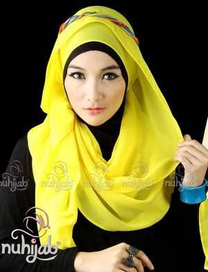 Inspirasi Desain Jilbab Untuk Hari Raya Idul Fitri