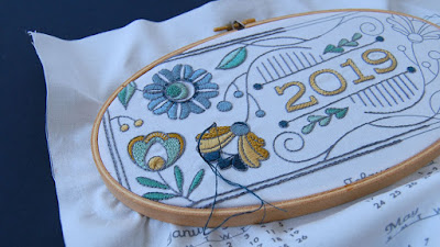 DIY Fabric Calendar kits for embroidery