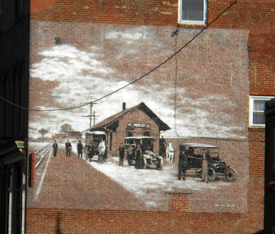 Old Train Station Wall Mural in Mercer County Pennsylvania