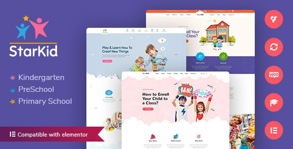 StarKid Kindergarten WordPress Theme Nulled, Free Download