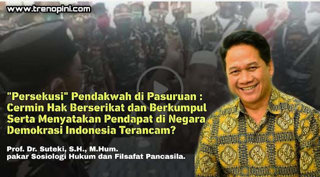 """represi yang makin meninggi terhadap para anggota bahkan orang yang pernah terlibat dalam""""mantan"""" ormas resmi yang bernama Hizbut Tahrir Indonesia (HTI) yang dicabut Badan Hukumnya sejak tahun 2017."""