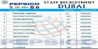 وظائف مختلفة في PEPSICO  دبي رواتب مغرية عمولات علاوات والعديد من المميزات