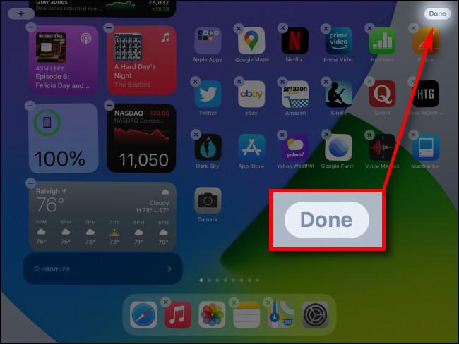 """عند الانتهاء من تعديل عرض اليوم ، انقر على الزر """"تم""""."""