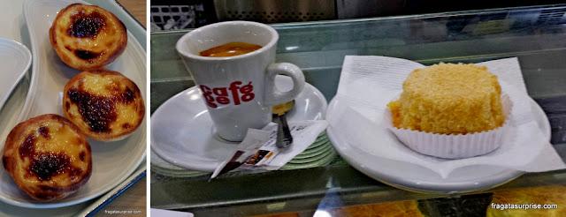 Doces portugueses: pasteis de nata e queijada