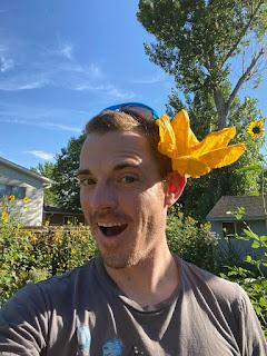 Urban Farmer with Squash Flower