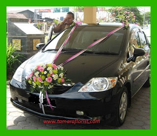 bunga hias mobil pengantin jakarta
