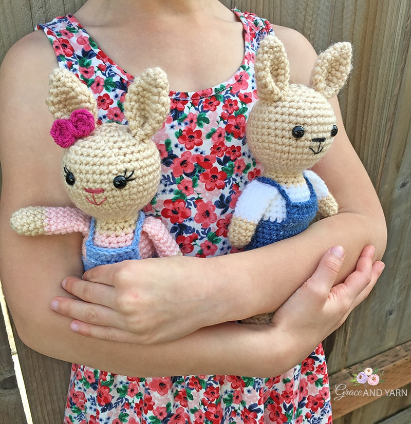 Mini Berry Patch Bunnies CAL by Grace and Yarn