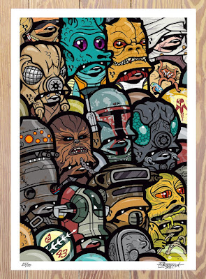 """Star Wars """"The Bounty Hunter Tales"""" Teddy Troopers Art Print by Flying Fortress"""