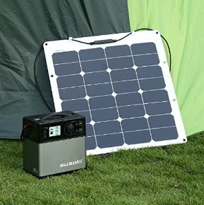 Suaoki Inverters: Portable Solar Power Generator - Suitable for Outdoors Camping and Trips : Electrical Kits