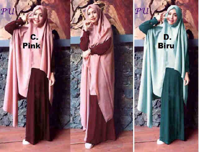 Pusat Grosir Baju Wanita Gamis Muslimah Riska Maxi 081603