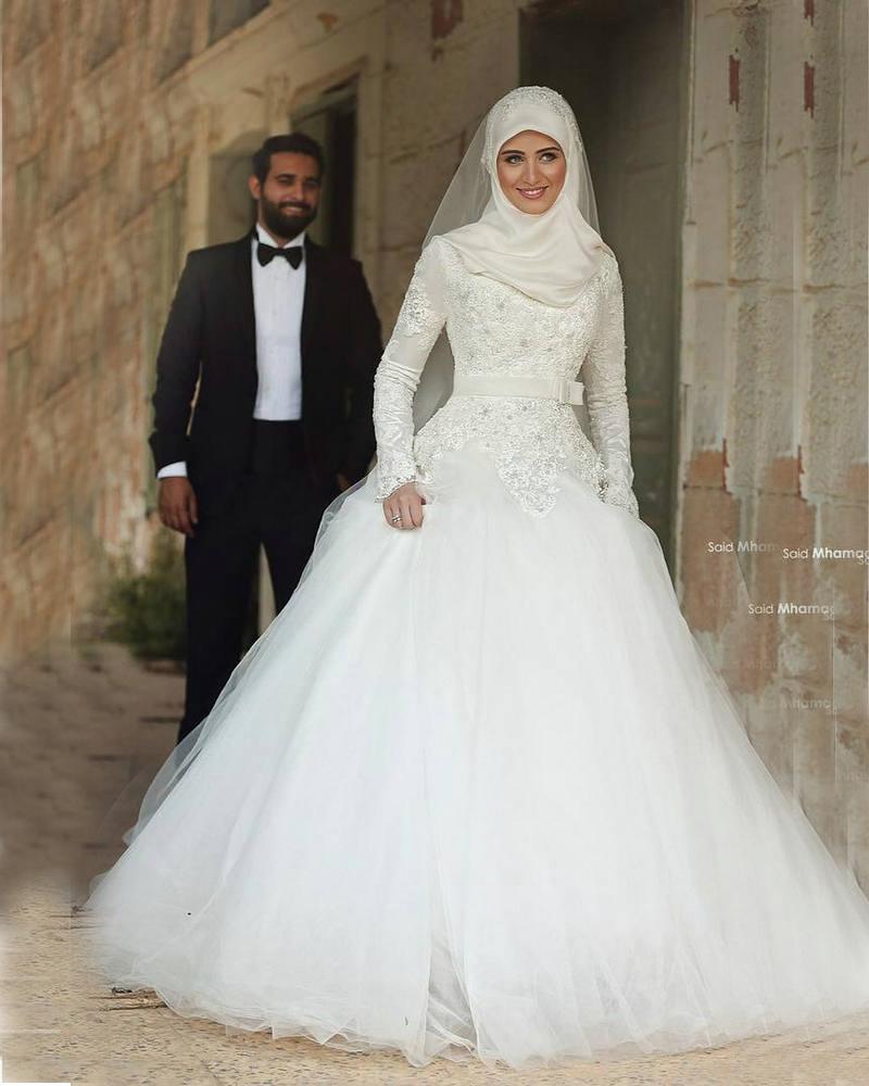 f5f1b8ef1 فساتين زفاف للمحجبات , صور فساتين افراح اسلامية , احدث فساتين زفاف محجبات