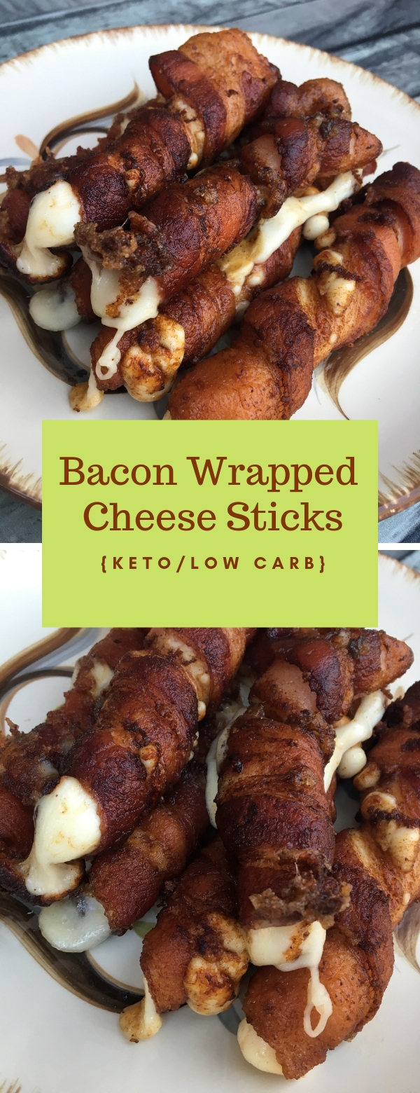 Bacon Wrapped Cheese Sticks #keto #lowcarb