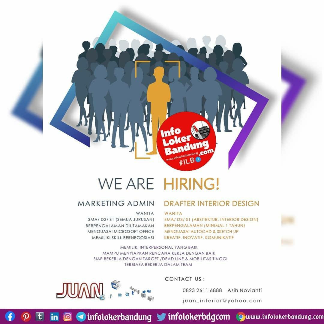 Lowongan Kerja Juan Interior Bandung Oktober 2020