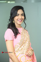 Actress Ritu Varma Pos in Beautiful Pink Anarkali Dress at at Keshava Movie Interview .COM 0179.JPG