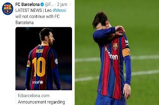 Barcelona Resmi Ditinggalkan Lionel Messi