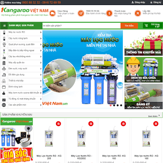 template bán hàng điện máy điện lạnh