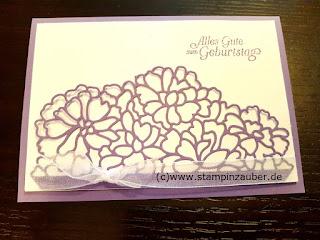 Geburtstagskarten mit Thinlits Liebe zum Detail von Silvi Provolija Unabh. Stampin' Up! Demonstratorin