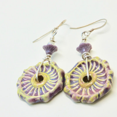 Bohemian Lilac Earrings by BayMoonDesign