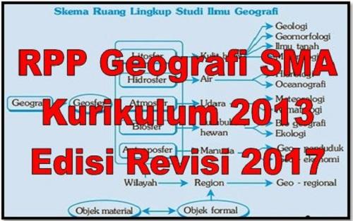 RPP Geografi SMA Kurikulum 2013 Edisi Revisi 2017