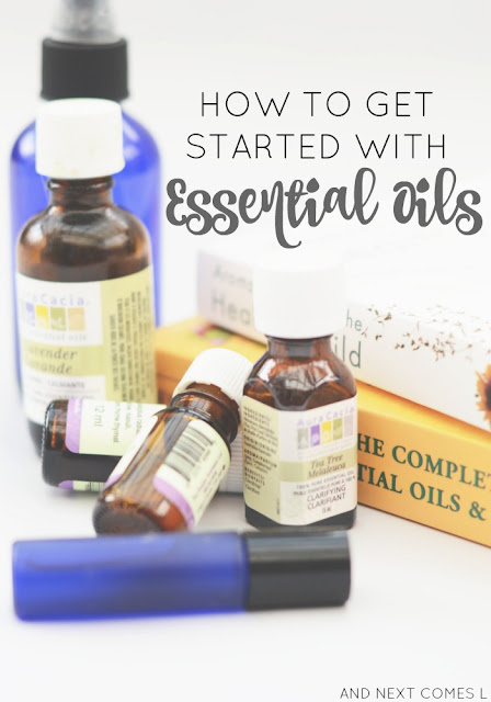 A beginner's guide to getting started with essential oils, essential oil safety, and the must have essential oil supplies from And Next Comes L