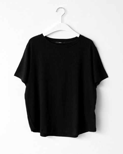 Spring Basic Short Tee Black