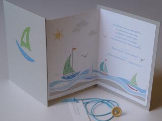 αγορίστικη πρόσκληση για βαφτίσια με θάλασσα και ήλιο