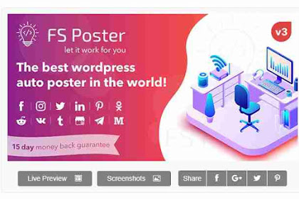Download Plugin FS Poster - WordPress Auto Poster & Scheduler