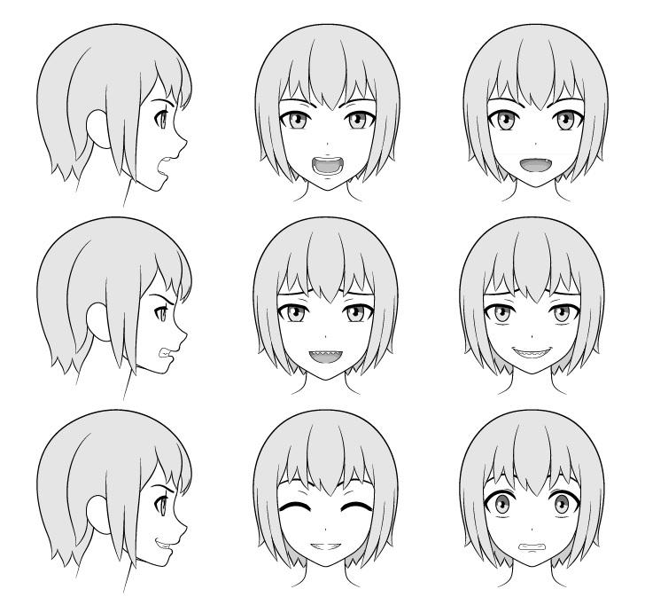 Gigi anime menggambar di wajah