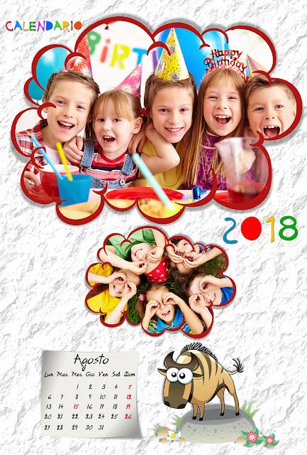 Calendario mensile per bambini 30x45