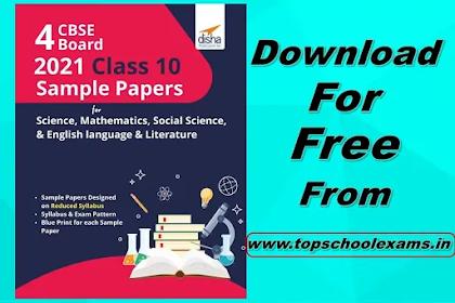 Download Disha 4 CBSE Board 2021 Class 10 Sample Papers PDF