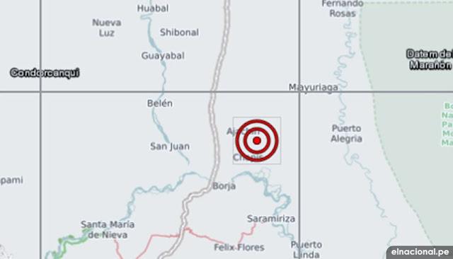 Sismo se registro en Condorcanqui, Amazonas