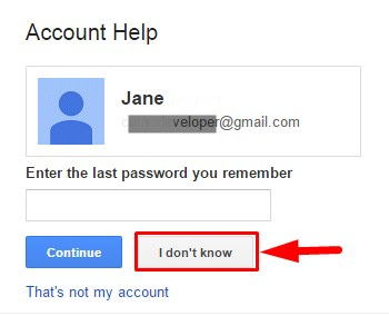 how to know forget password in gmail