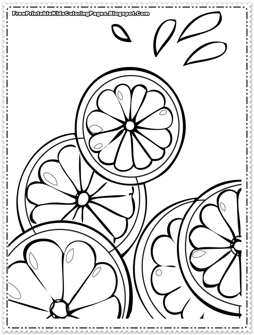 Orange Coloring Pages For Toddlers (18 Image)