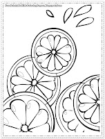 orange coloring pages for kids