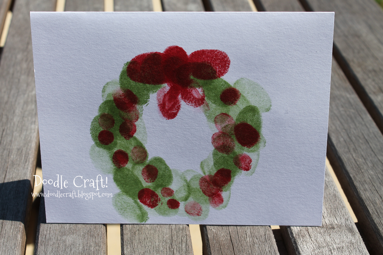 Doodlecraft Christmas In July Week Fingerprint Cards