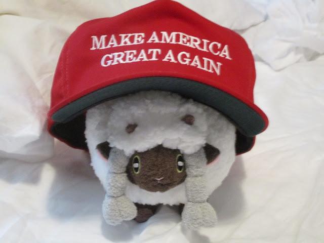 MAGA Hat Wooloo plush Pokémon plushie Make America Great Again