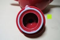 Deckel innen: Porzellan Teekannenservice von Original First Tea (Rot)