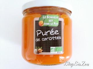 purée de carottes bio - Le Bonheur est dans le Pot
