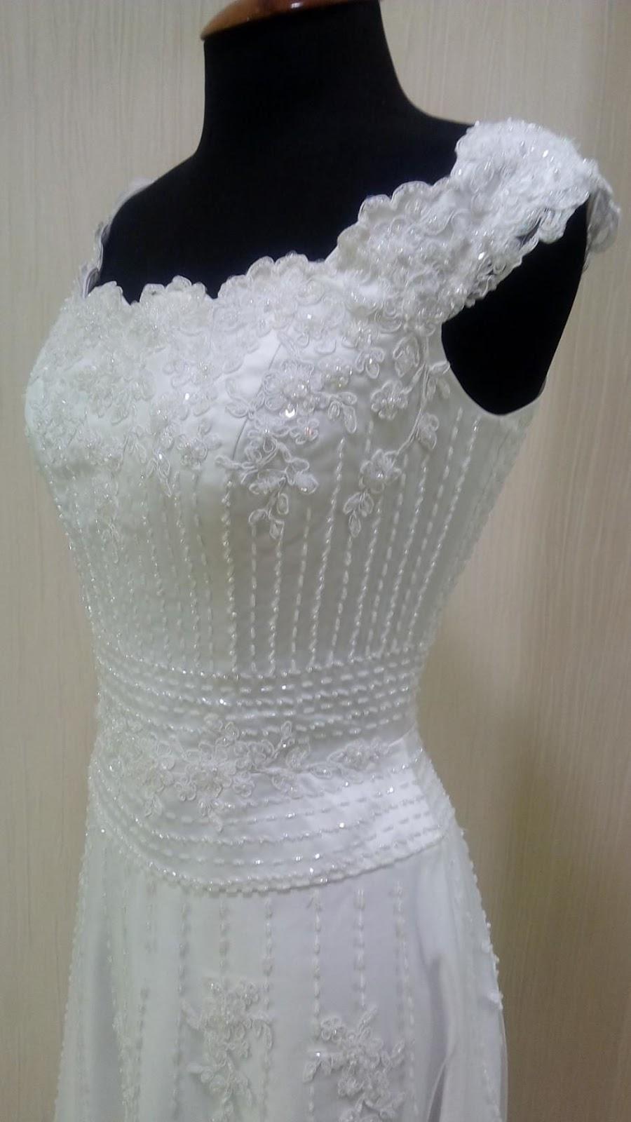 Пример кружев для свадебного платья