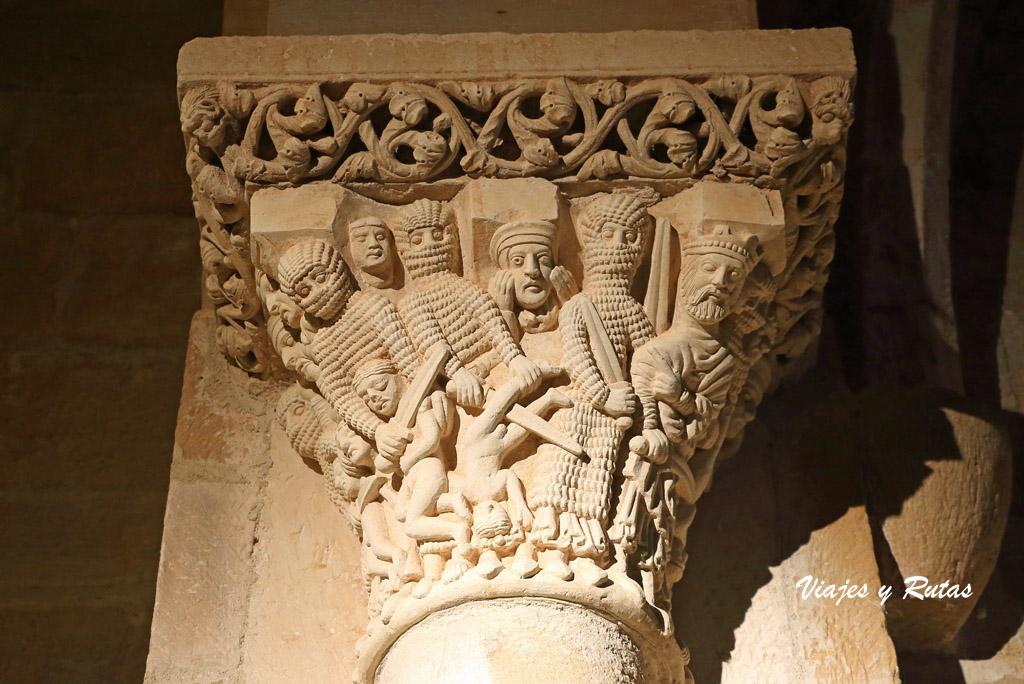 Capitel de los Santos Inocentes de Santa Cecilia de Aguilar