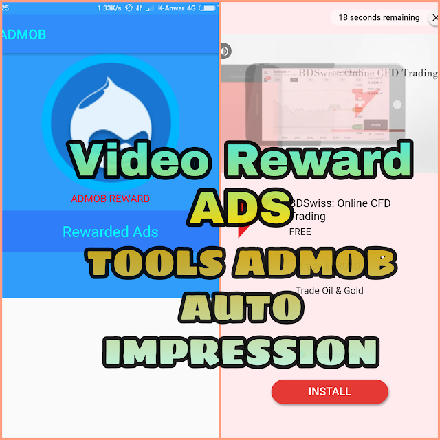Admob Tools: Auto Impression Khusus Iklan Reward Ads  (Just To rewarded video ads)