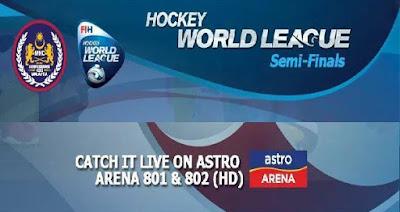 Jadual dan Keputusan Perlawanan Liga Hoki Dunia 2017 Pusingan Separuh Akhir