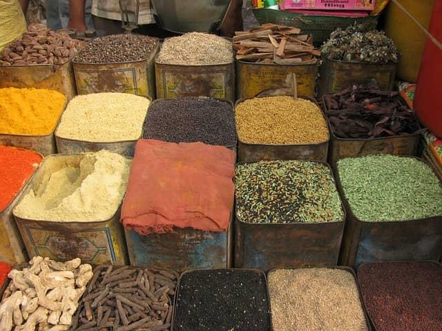 Projet de magasin d'épices de l'Inde